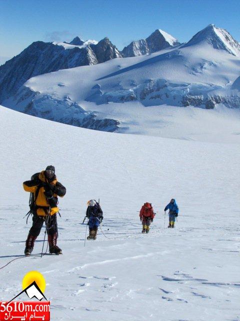 مسیر کوه وینسون در قطب جنوب