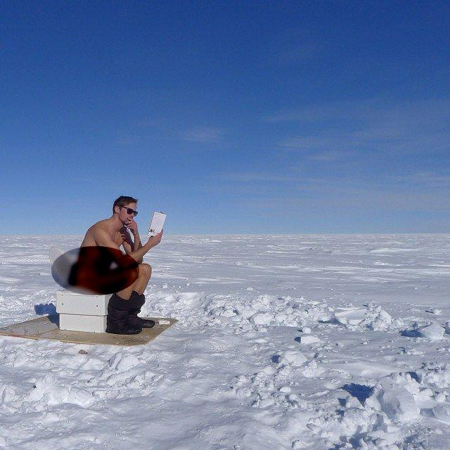 از معدود توالت های قطب جنوب