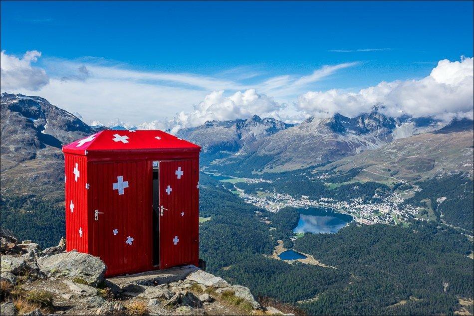 توالت سگانتینی در آلپ سوئیس