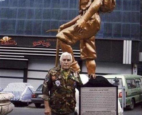 امیر شاه قدمی، مدل مجسمه معروف میدان دربند