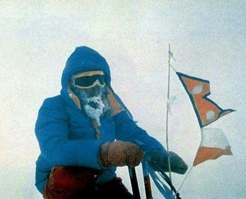 یرزی کوکوچکا در اولین صعود زمستانی تاریخ کوه داهولاگری در زمستان 1985