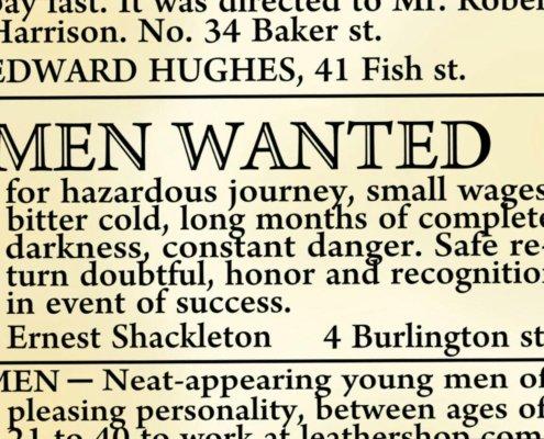 یکی از معروف ترین آگهی های استخدام در طول تاریخ